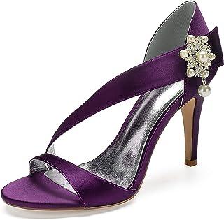 744456e41deddd AIMISHOES Mode Strass Perle Escarpins Talons Chaussures De Mariage pour Les  Femmes Coins Talons Hauts Chaussures