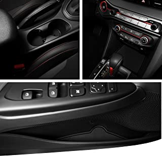 CupHolderHero for Hyundai Veloster 2019-Present Custom Fit Cup, Door, and Center Console Liners 12-pc Set (Solid Black)