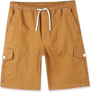 Men's Premium Casual Slim Fit Stretch Cotton Twill Cargo Jogger Short