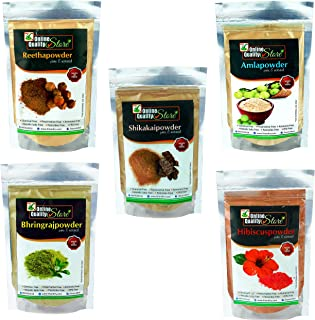 Amla Reetha Shikakai Bhringraj and hibiscus powder for hair (200 Grams)