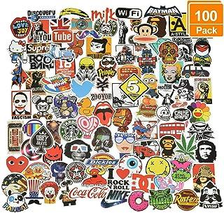 Willingood Aufkleber 100 Stück Wasserdicht Vinyl Stickers Graffiti Style Decals für Auto Motorräder Fahrrad Skateboard Snowboard Gepäck Laptop Aufkleber MacBook iPad und mehr