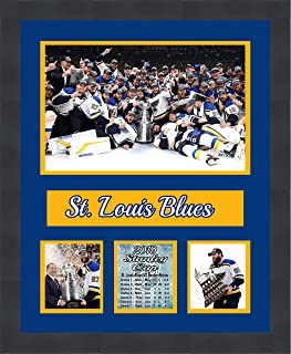 St. Louis Blues St. Louis Blues 2019 Stanley Cup Champions Framed 16 x 20 Matted Collage Framed Photos Ready to Hang