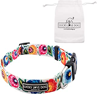 Lucky Love Dog Collars & Leash Sets | Floral Dog Collar | Female Dog Collar | Flower Dog Collar | Part of Purchase Donated to Dog Rescue