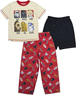 Boys' Big Star Wars 3-Piece Pajama Set-tee-Shorts-Pants
