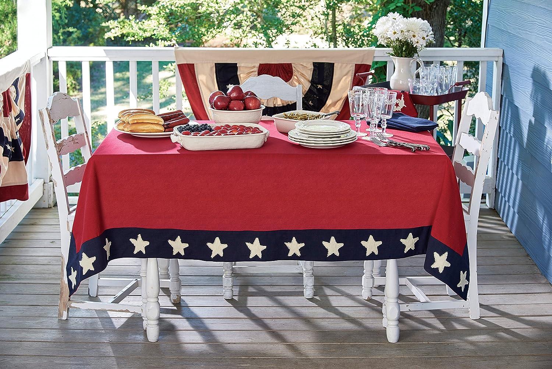 Park Designs Star Spangled Tablecloth 60X84
