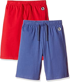 Kid Nation Kids 2 Packs 100% Cotton Lightweight Jersey Casual Elastic Short