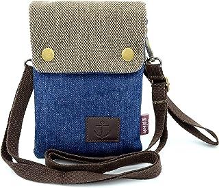 Gcepls Women's Canvas Cross-Body Casual Shoulder Bag for iPhone X,iPhone 8 Plus,iPhone 6S Plus,7 Plus,Samsung Galaxy S7 Edge,S8 Edge Galaxy Note 9 (Dark Blue)