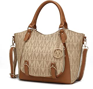 Mia K Collection Shoulder Bag for Women, PU Leather Pocketbook Top-Handle Crossbody Purse Tote Satchel Handbag