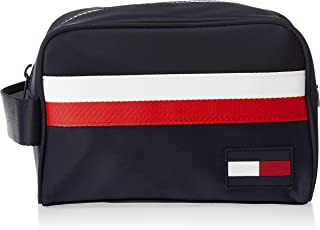 Tommy Hilfiger Unisex Sport Mix Corporate Zip Up Closure Wash Bag - Navy