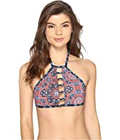 Lucky Brand - Festival Medallion Reversible High Neck Top