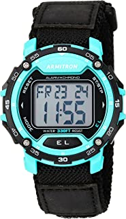 Armitron Sport Men's 40/8291TEL Teal Accented Digital Chronograph Dial Nylon Strap Watch