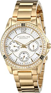 Stuhrling Original Marina 914 Women'S Mother Of Pearl Dial Stainless Steel Band Watch - 914.02, Gold/White,