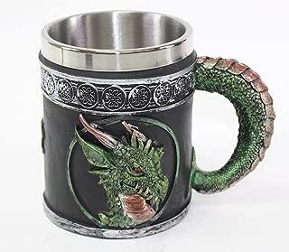 Mythical Green Royal Dragon Mug Serpent Handle Medieval Collectible Magical Halloween Party Home Decor Gift