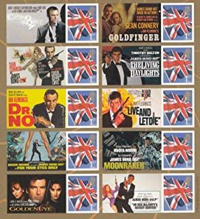 James Bond 50th Anniversary Collectible Postage Stamps UK
