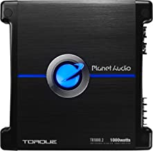 Planet Audio TR1000.2 2 Channel Car Amplifier - 1000 Watts, Full Range, Class A/B, 2/4 Ohm Stable, Mosfet Power Supply, Bridgeable