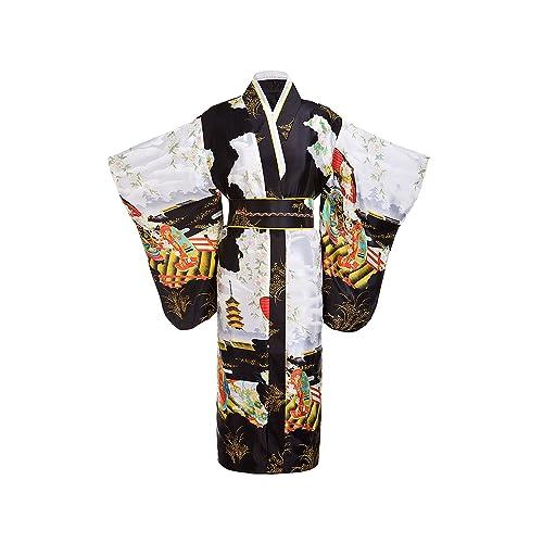 d558c68c5 Joy Bridalc Yukata Women's Gorgeous Japanese Traditional Satin Kimono Robe