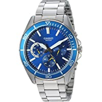 Casio WR50M Sports Quartz Men's Watch with Stainless-Steel Strap (Blue)