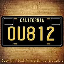 Forever Signs Of Scottsdale OU812 Rock Band Van Halen Album 1988 California Vanity Aluminum License Plate Black