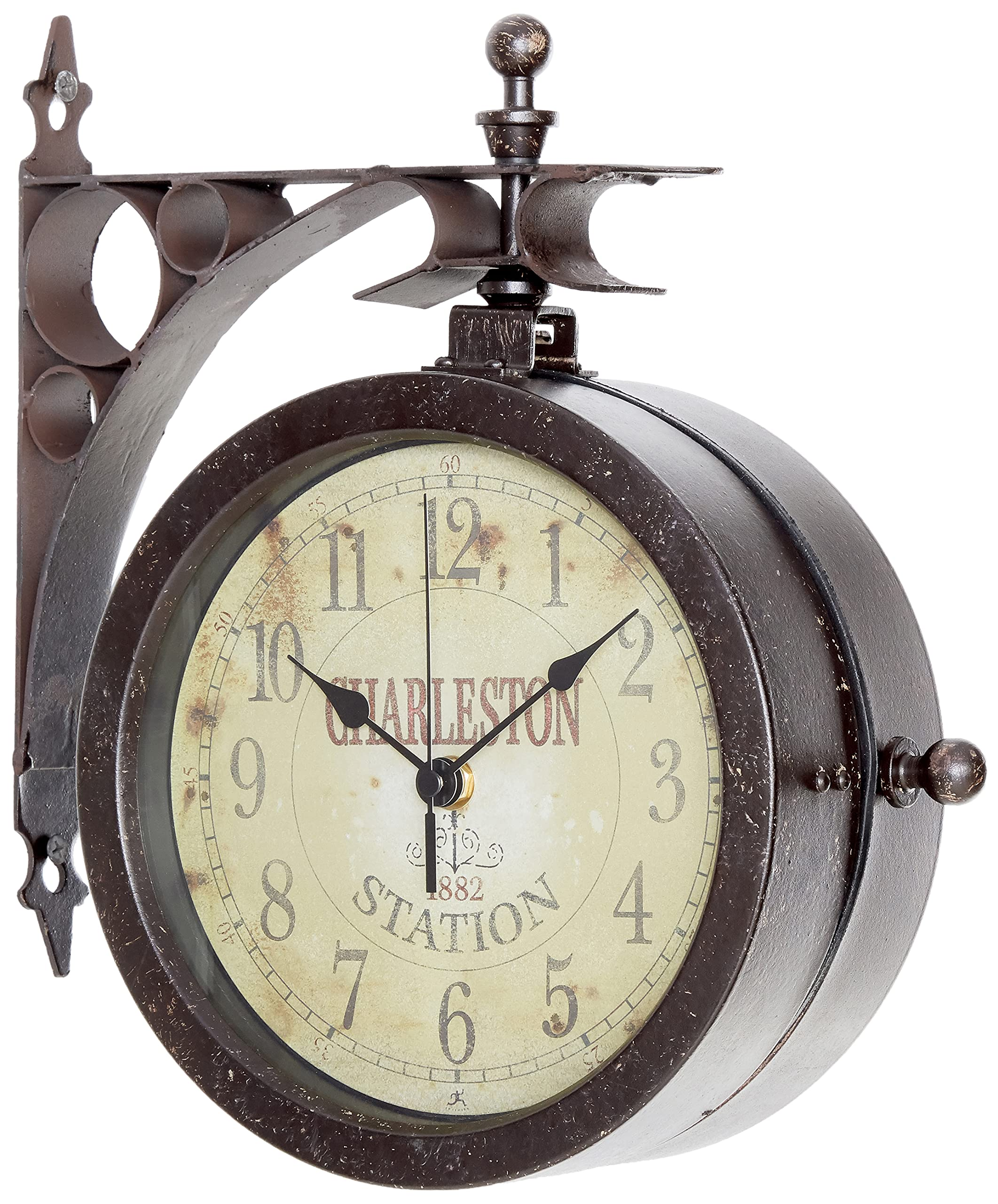 """Infinity Indoor/Outdoor 8"""" The Charleston Double Sided Clock & Thermometer - 12430CT-RUV2"""