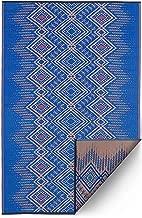 Fab Habitat Reversible Rugs | Indoor or Outdoor Use | Stain Resistant, Easy to Clean Weather Resistant Floor Mats | Jodhpur - Blue, 5' x 8'