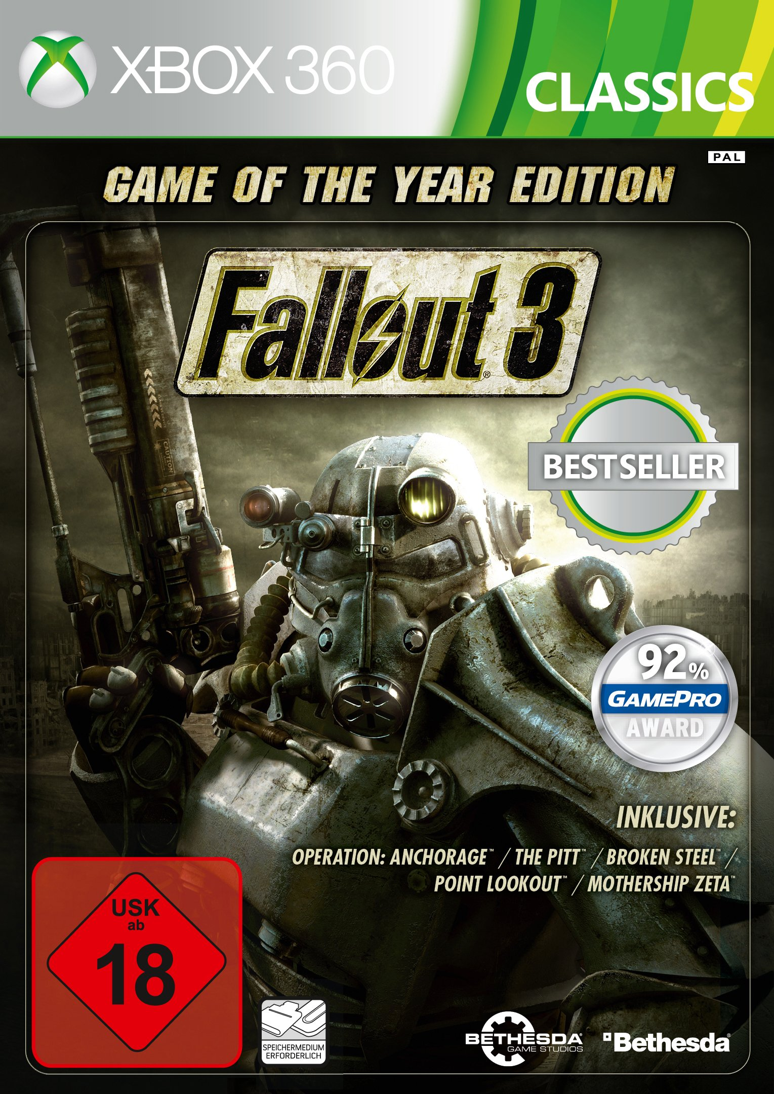 Fallout 3 - Game Of The Year Edition - Classics [Importación Alemana]: Amazon.es: Videojuegos