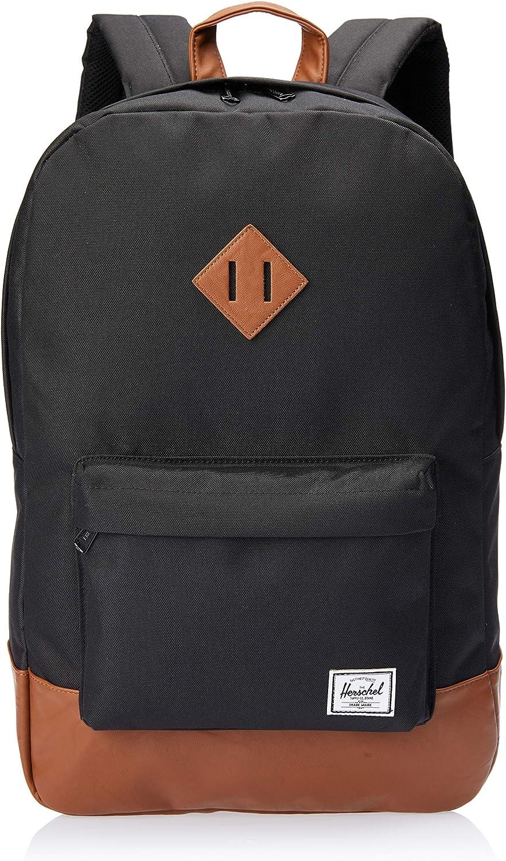 Herschel Heritage Fabric Rucksack, schwarz, braun, 38,1 cm, Fronttasche, Fronttasche, Fronttasche, Handytasche, Reißverschluss B075QFJZPK | Fein Verarbeitet  d948d0