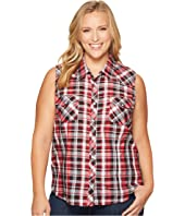 Roper - Plus Size 1038 Black, Red and White Plaid