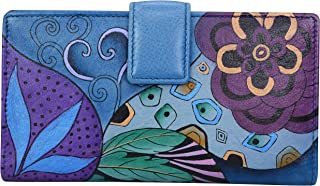 Hand Painted Leather - Bi-Fold Organizer Wallet