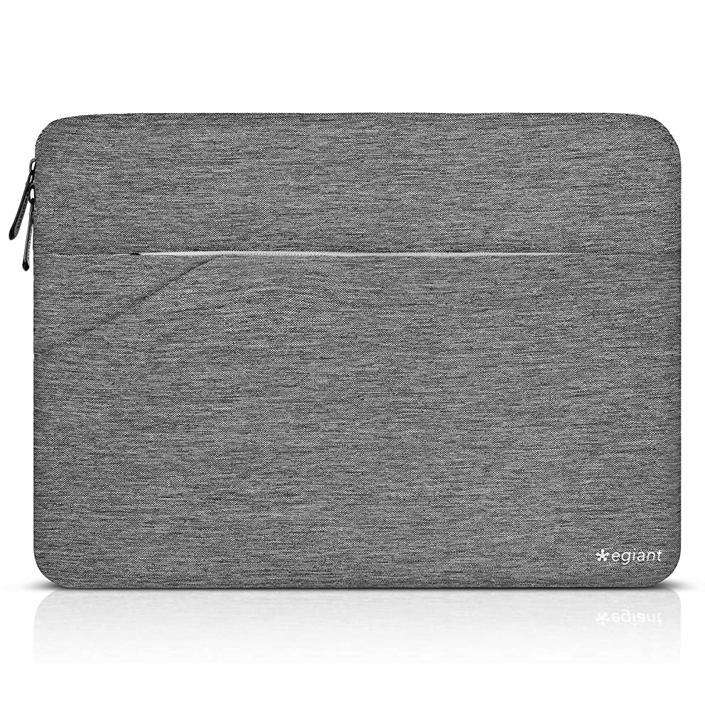 Laptop Sleeve 15.6 inch, Egiant Slim Water-Resistant Notebook Case Bag Compatible Asus F555LA/MB168B/X551|Aspire 15.6|Chromebook 15|Inspiron 15.6|Pavilion 15.6,Protective Computer Sleeves Cover-Gray