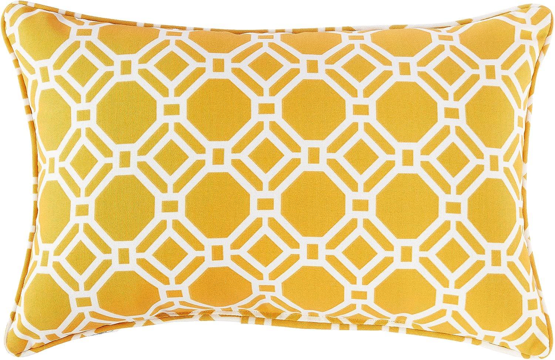 Pillow Perfect Max 74% OFF Outdoor Indoor Cash special price Sunshine Lumbar Rossmere Pillows