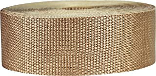Strapworks Lightweight Polypropylene Webbing - Poly Strapping for Outdoor DIY Gear Repair, Pet Collars, Crafts – 2 Inch by 10, 25, or 50 Yards, Over 20 Colors