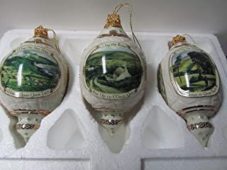 Irish Blessings Heirloom Porcelain Ornament Collection Set of Three