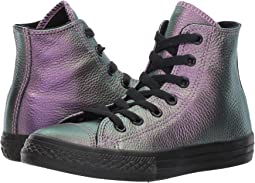 Chuck Taylor All Star Iridescent Leather - Hi (Little Kid)
