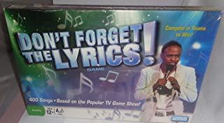 Parker Brothers Dont Forget The Lyrics Game