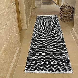 black and white diamond runner rug