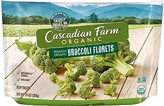 Cascadian Farm Organic Broccoli Florets, 10oz Bag (Frozen), Organically Farmed Frozen Vegetables, Non-GMO