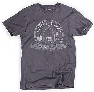 Superluxe Clothing Mens Hershels Farm Vintage Zombie Apocalypse Barn T-Shirt