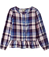 Lucky Brand Kids - Parker Yarn-Dye Plaid Top-B (Big Kids)