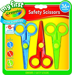 Crayola My First Safety Scissors, Toddler Art Supplies, 3ct , Junior