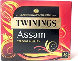 Twinings Assam Strong & Malty 100% Black Tea, 80 Tea Bags, 200g (Pack of 3)
