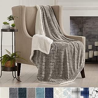 Home Fashion Designs Premium Reversible Two-in-One Sherpa and Fleece Velvet Plush Blanket. Fuzzy, Cozy, All-Season Berber Fleece Throw Blanket Brand. (Taupe)