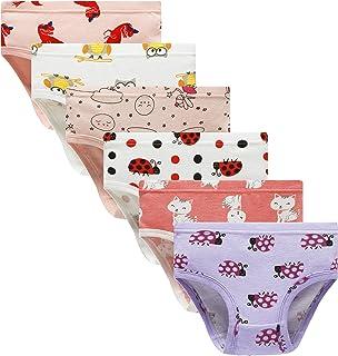 Cadidi Dinos Girls' Underware Cotton Panties Big Girls Soft Underwears Kids Briefs (Pack of 6) Size 10