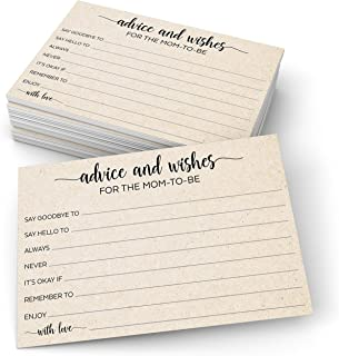 """Sponsored Ad - 321Done Advice and Wishes for The Mom-to-Be (50 Cards) 4"""" x 6"""" for Baby Advice Cards for Baby Shower Game S..."""