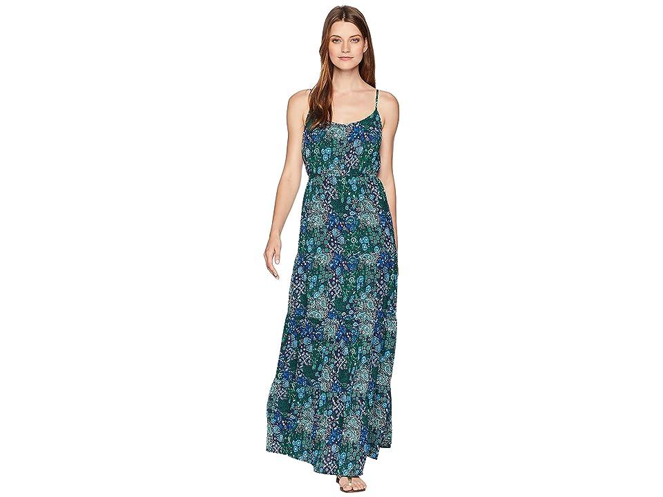 MICHAEL Michael Kors Paisley Remix Tiered Maxi Dress (True Navy Multi) Women