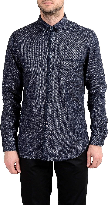 Hugo Boss Magneton Men's Slim Long Sleeve IT Shirt M US favorite Sales results No. 1 Casual 5