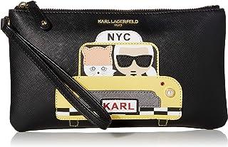 Karl Lagerfeld Paris womens Novelty Large Wristlet, Taxi Yellow, 1 SZ US