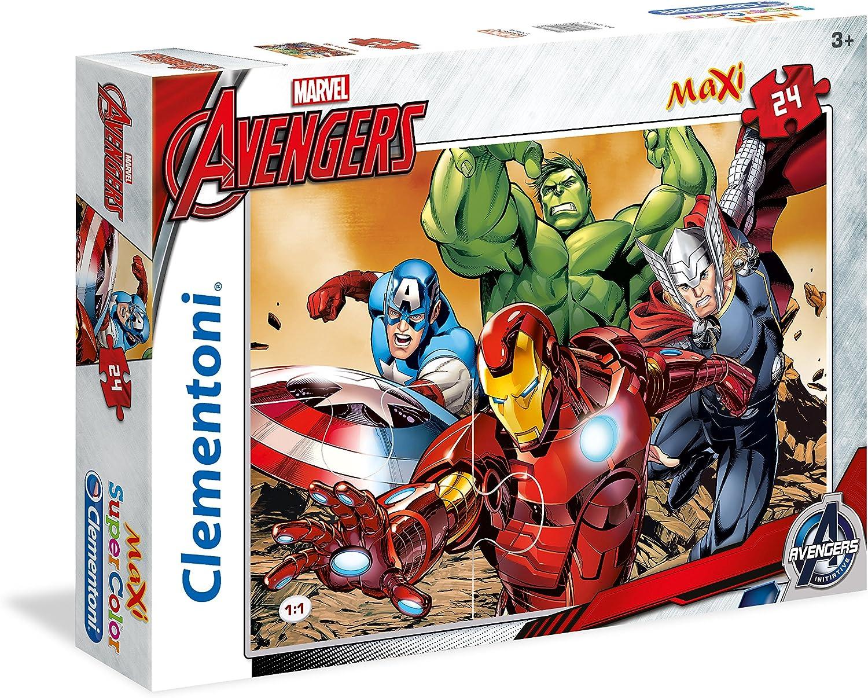 Clementoni  The Avengers  Maxi Puzzle (24 Piece), 26.77 x 19.90
