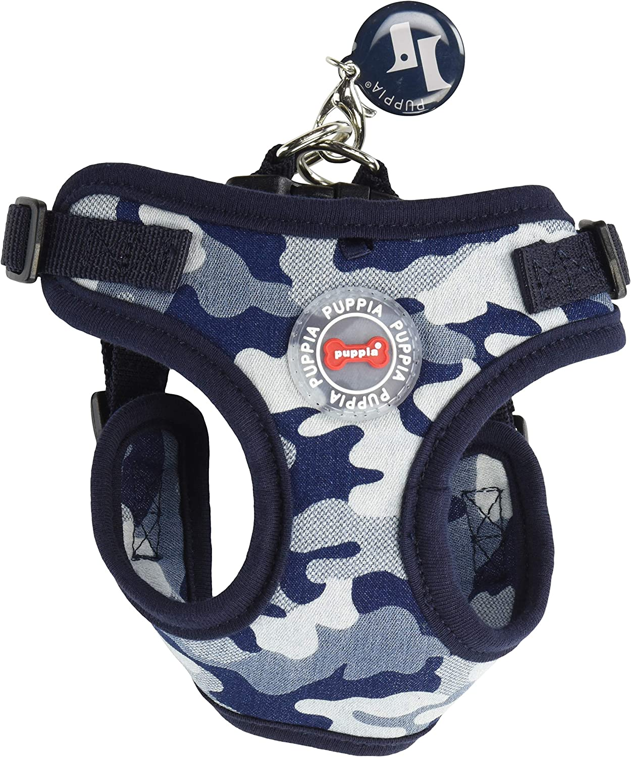 Puppia PARAHC1523NCS Navy Camo Bobby Harness C PetVestHarnesses, Small