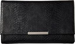 Nora Metallic Snake Large Envelope Clutch