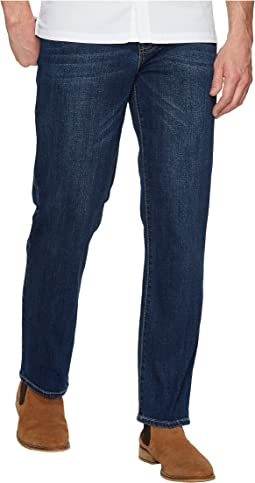 Relaxed Straight Stretch Denim in Marina Dark